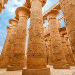 Carved Pillars of Luxor Temple